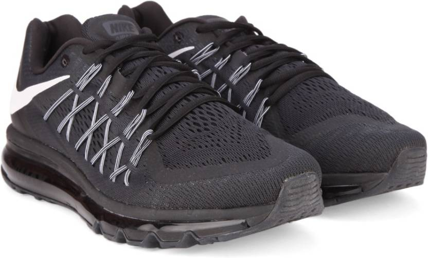Nike AIR MAX 2015 Running Shoes For Men - Buy BLACK WHITE Color Nike ... 42e1eb29c