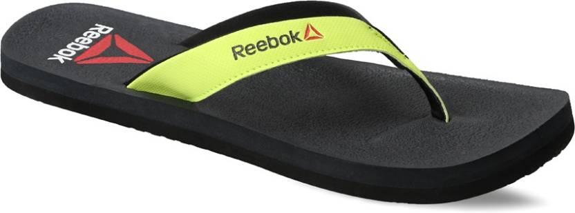 2678fcf9dd8033 REEBOK ADVENTURE FLIP Flip Flops - Buy GRAVEL NEON YELLOW BLK Color ...