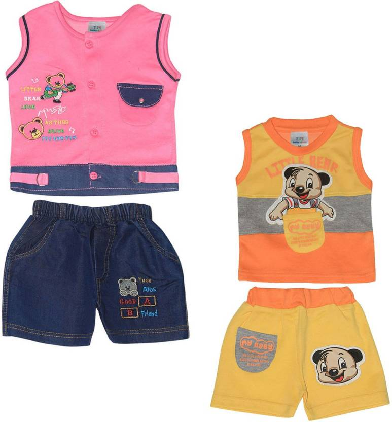 a5dcf80a baby&kid Boys & Girls Casual T-shirt Shorts Price in India - Buy ...