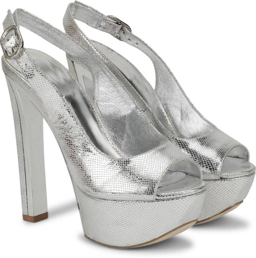 44c1c4adc21c Nina Feliz Women Silver Heels - Buy Nina Feliz Women Silver Heels Online at Best  Price - Shop Online for Footwears in India