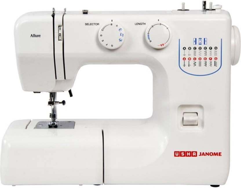 Usha Janome Allure Electric Sewing Machine Price In India Buy Usha Awesome Janome Sewing Machine Online