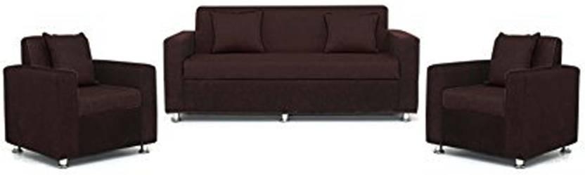 ebbd63e3fa Comfy Sofa Classy Fabric 3 + 1 + 1 Brown Sofa Set Price in India ...