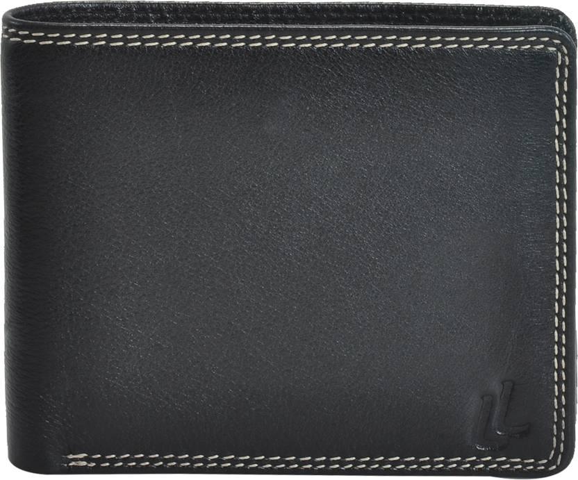 664b28e2709b Leder Land Men Black Genuine Leather Wallet Black - Price in India ...
