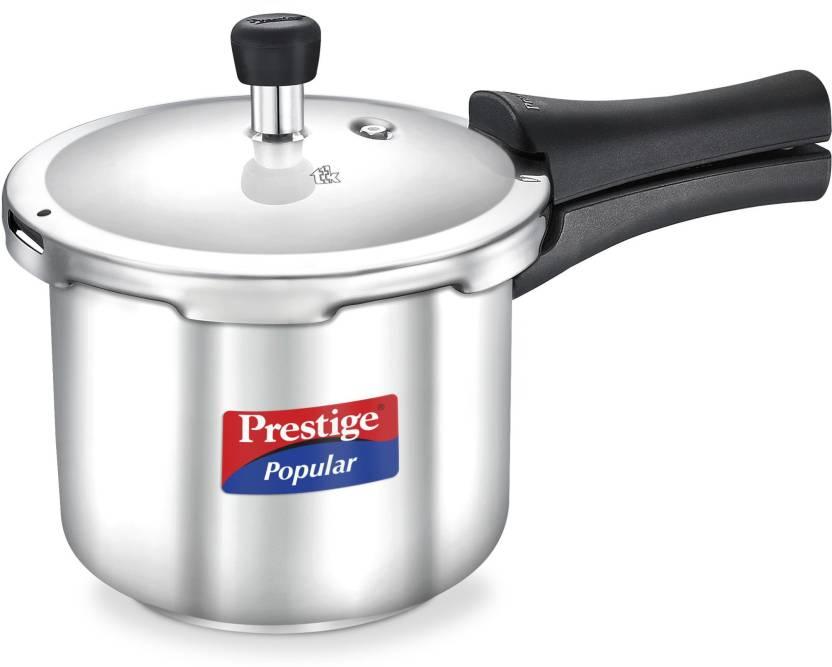 Prestige Popular 2 L Pressure Cooker Stainless Steel