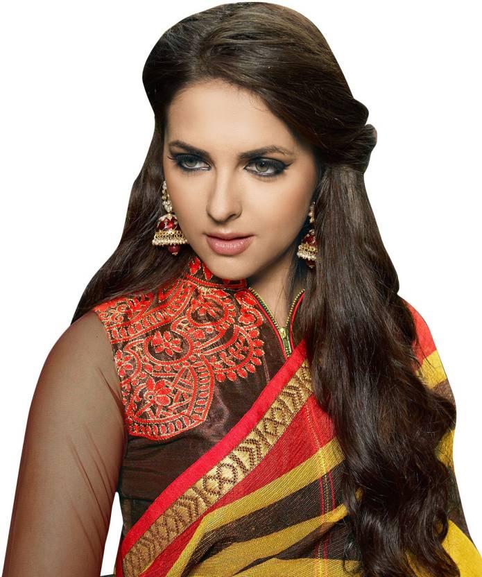 Buy Shaily Retails Embellished Fashion Cotton Linen Blend Multicolor