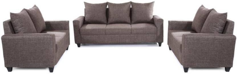 93c99b2848 Comfy Sofa classy Fabric 3 + 2 + 2 Grey Sofa Set Price in India ...