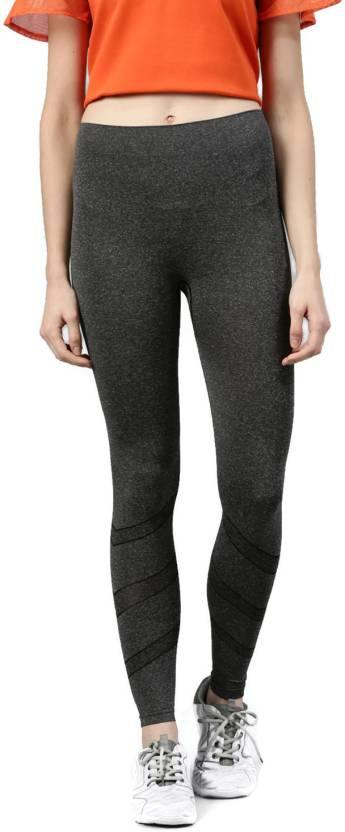 6401a826268dc HRX by Hrithik Roshan Solid Women's Grey Tights - Buy HRX by Hrithik ...