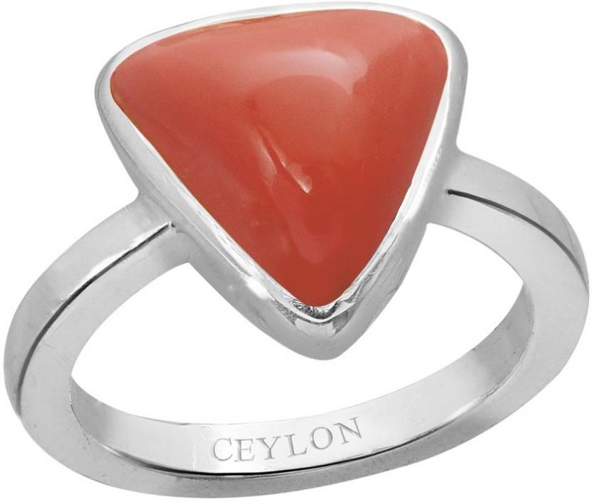 48ff0ff6ca681 Ceylon Gems Trikona Coral Moonga 6.5cts or 7.25ratti stone Elegant ...