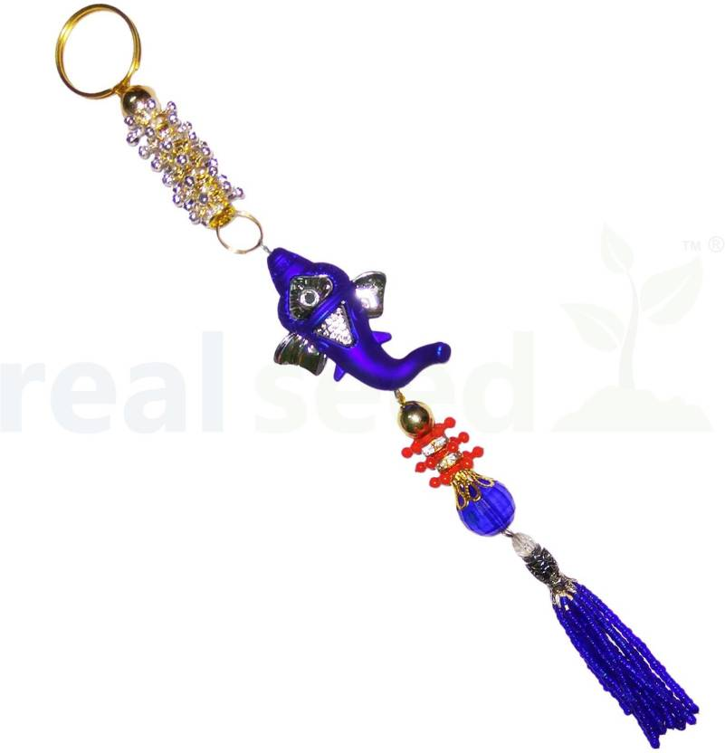 Real Seed Car Decoration Rear View Mirror Hanging Accessories Ganesh Unique Car Decoration Accessories India