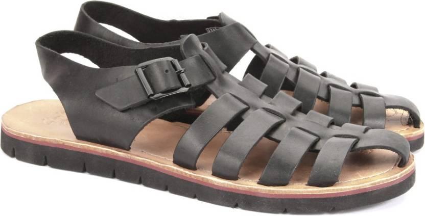 80963be2a66 Clarks Men Black Leather Sports Sandals - Buy Black Leather Color Clarks  Men Black Leather Sports Sandals Online at Best Price - Shop Online for  Footwears ...
