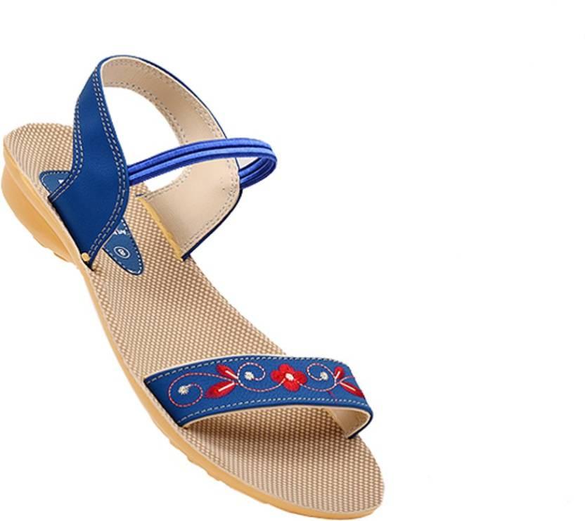 f8057b982355 VKC Women BLUE Sandals - Buy VKC Women BLUE Sandals Online at Best Price -  Shop Online for Footwears in India