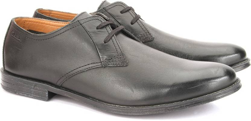 94316d2d84006 Clarks Hawkley Walk Black Leather Lace Up For Men