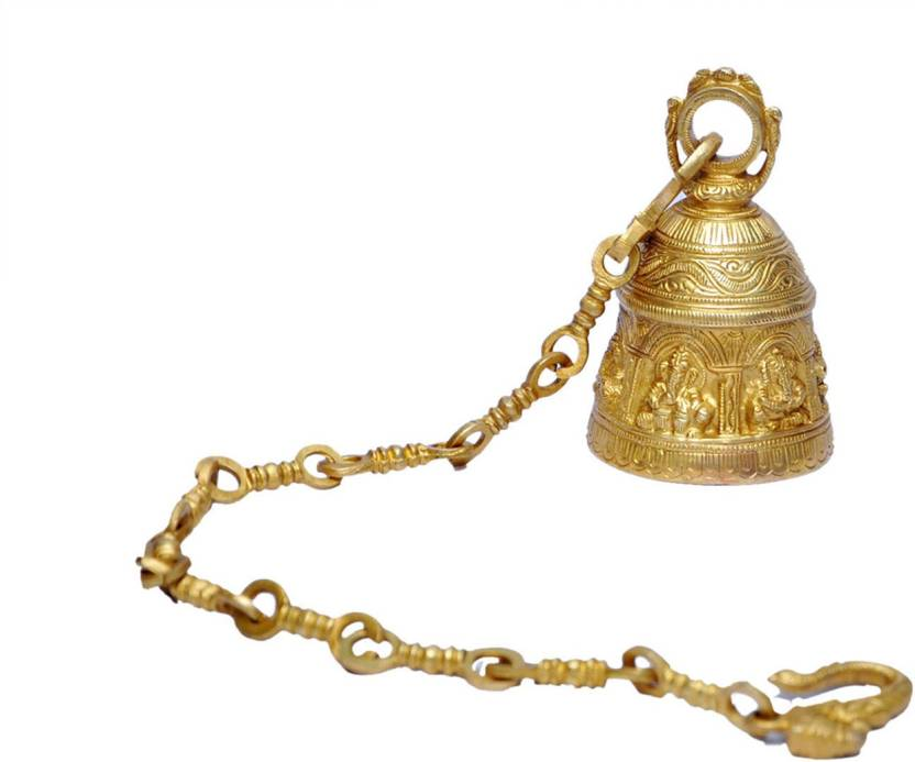 b23cf84ff4f MP Crafts Brass Hanging Wall Mounted Bell for Home Temple