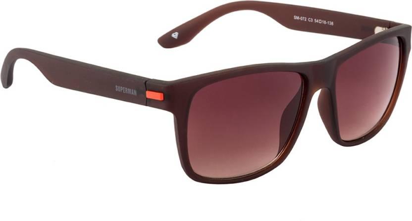 2bc257675c1f Buy Superman Wayfarer Sunglasses Brown For Men & Women Online @ Best ...