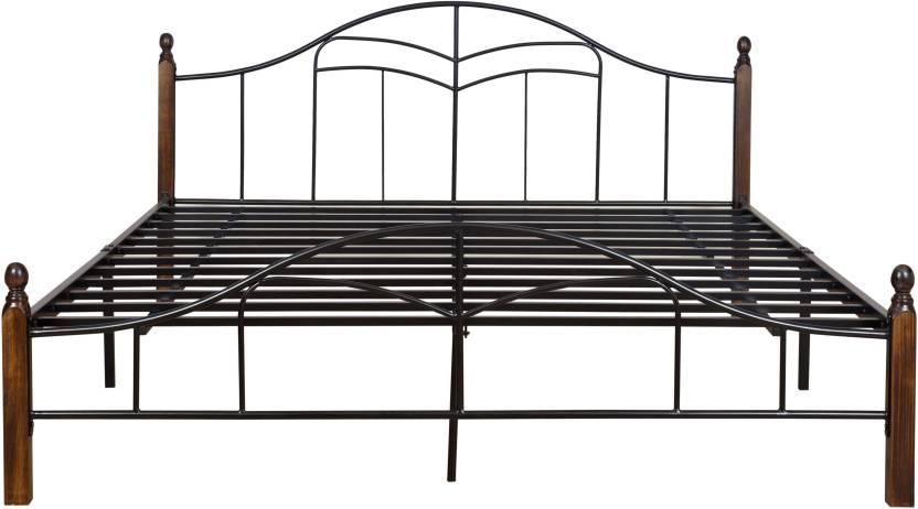 FurnitureKraft Ohio Metal King Bed
