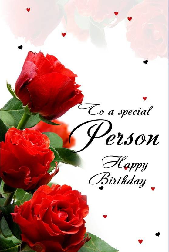 to a special person happy birthday poster paper print quotes