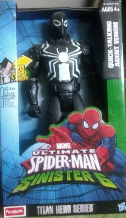 Ultimate Spider-Man vs the Sinister 6 Titan Hero Series Agent Venom Action Figure 12 Inches Hasbro B6343AS0