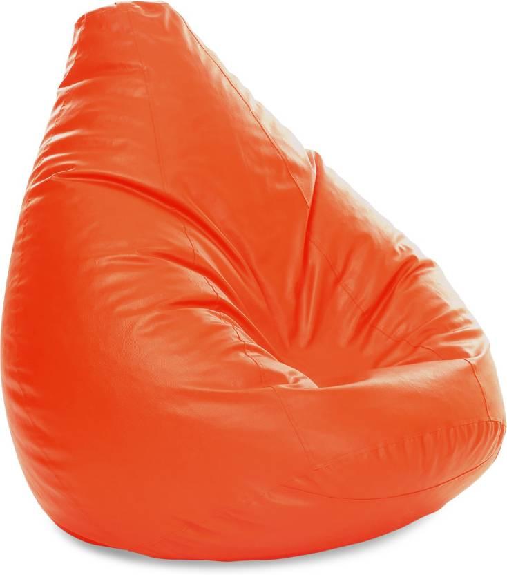 Pleasant Style Homez Xxxl Jumbo Sac Orange Color With Beans Teardrop Bean Bag With Bean Filling Dailytribune Chair Design For Home Dailytribuneorg