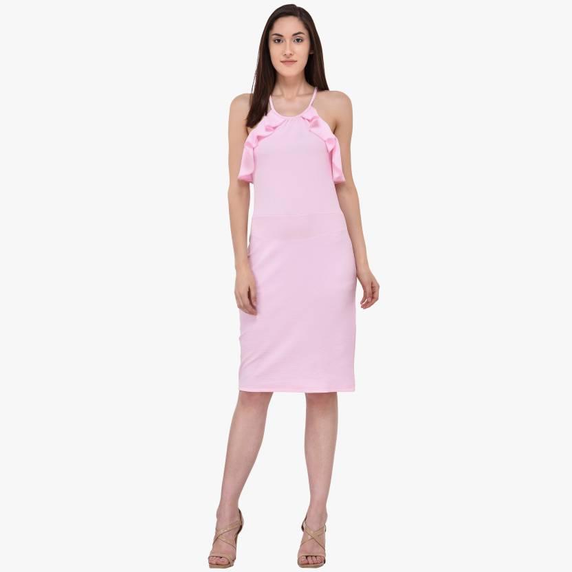 74868ec24d322 Mayra Women's Bodycon Pink Dress - Buy Mayra Women's Bodycon Pink Dress  Online at Best Prices in India | Flipkart.com