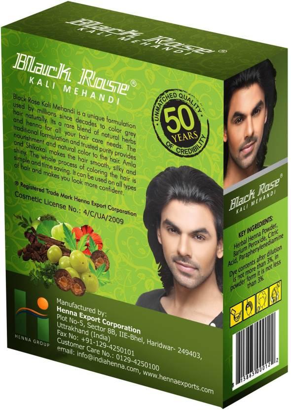 Black Rose Kali Mehandi Pack Of 2 Price In India Buy Black Rose