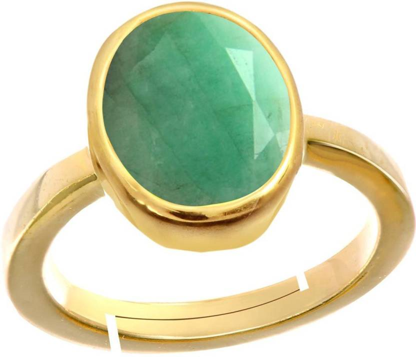 6ef1e609c67911 Gemorio Emerald Panna 8 3cts Or 9 25ratti Panchdhatu For Men Silver