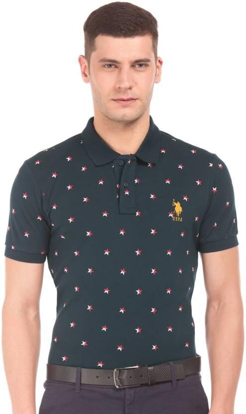 d2678f969 U.S. Polo Assn Polka Print Men's Polo Neck Multicolor T-Shirt - Buy U.S.  Polo Assn Polka Print Men's Polo Neck Multicolor T-Shirt Online at Best  Prices in ...