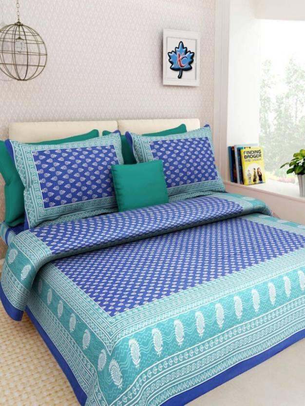 Jaipur Print Cotton Printed King sized Double Bedsheet