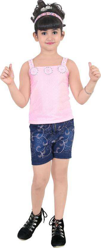 97448dbccd7f Baby Girl s Designer Top and Shorts set (12 Months to 18 Months) Girls Party
