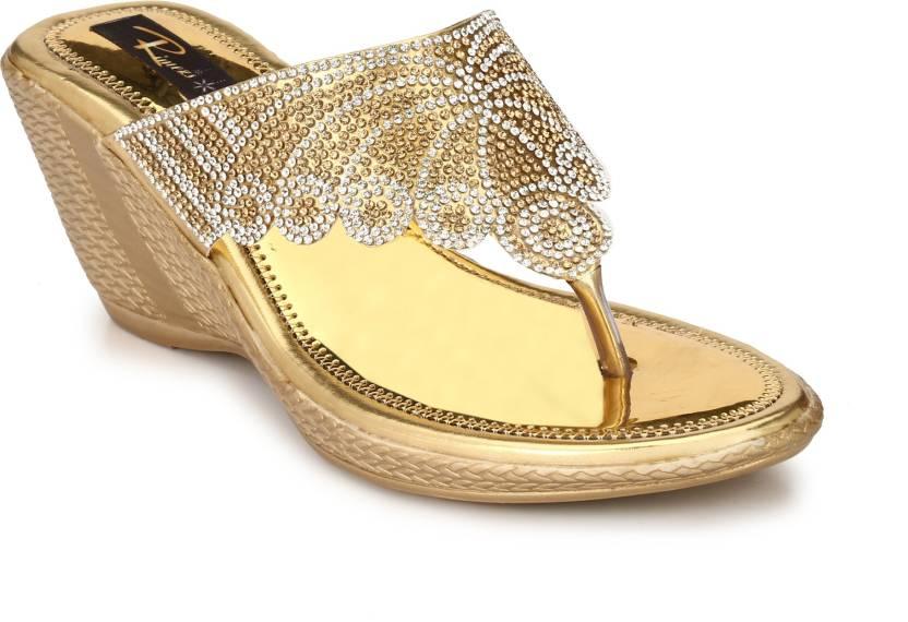 Rimezs Gold Wedges Heels for cheap sale online 0U3fjpOQ