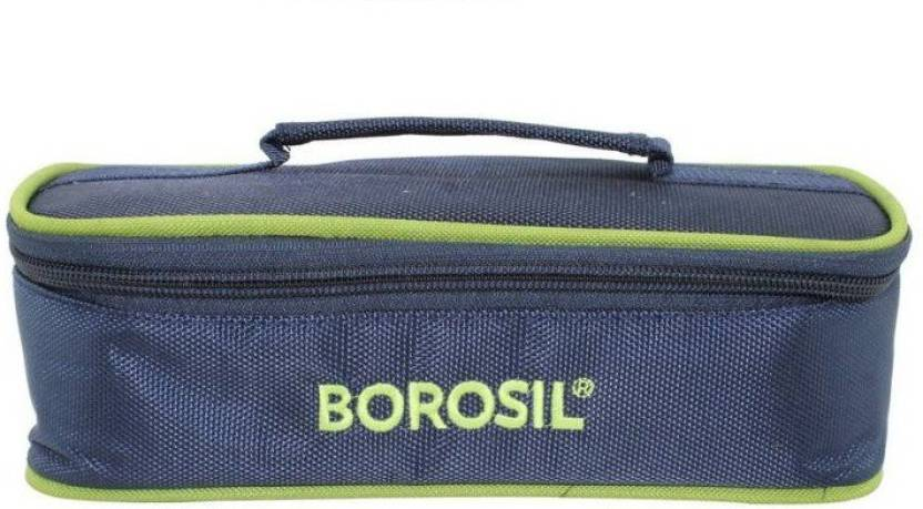 Borosil GLASSY 2 Containers Lunch Box 400 ml