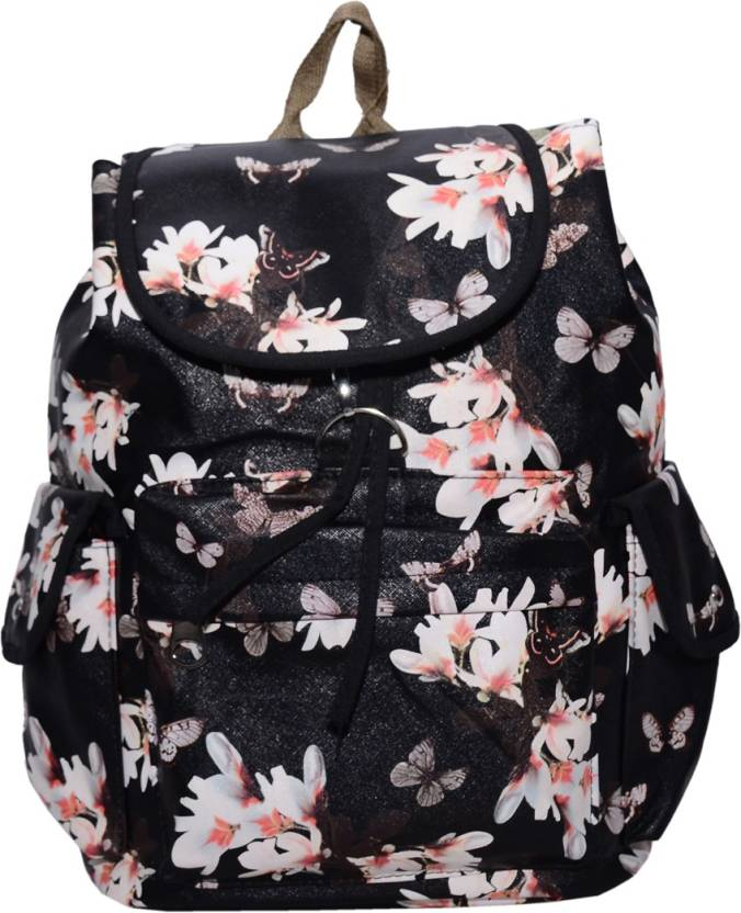 Ruff Multi Colour School Bag Printed Backpack Casual Style Women