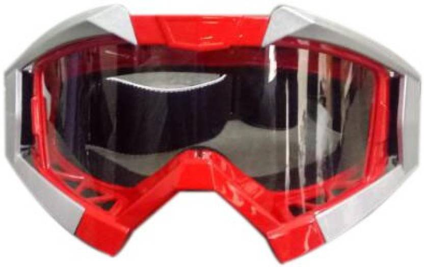 dfecdbb68cc Enfield Works A A Automobile Vega Motorbike Motocross ATV   Dirt Bike  Racing Transparent Goggles with Adjustable Strap (Red) for Royal Enfield  Motorcycle ...