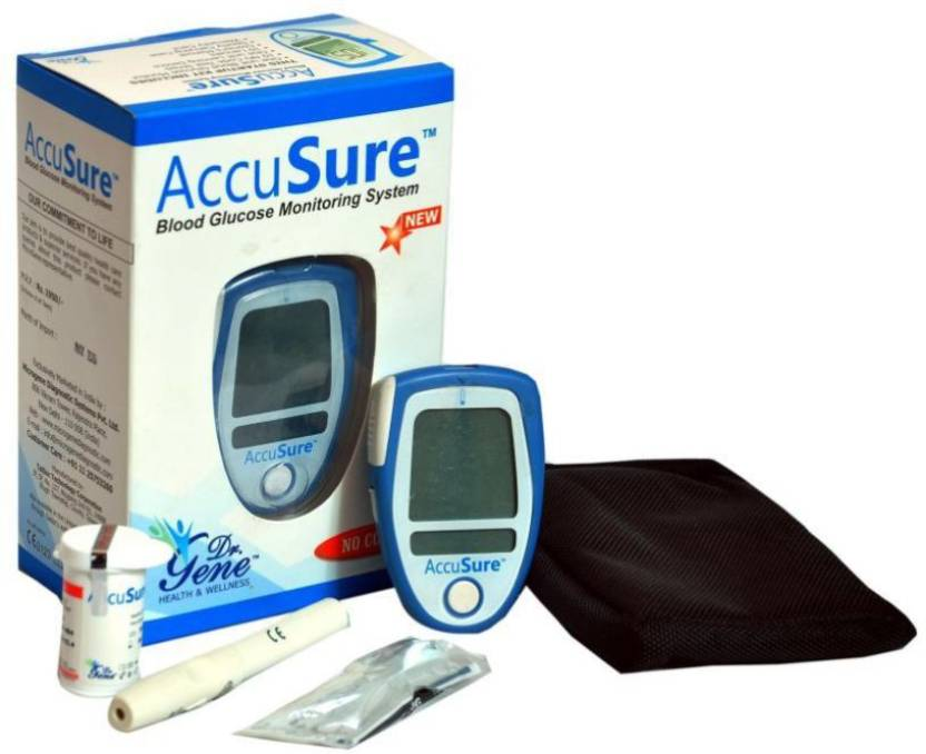 Deemark AccuSure Blood Sugar Monitor System with 25 Test Strips Glucometer