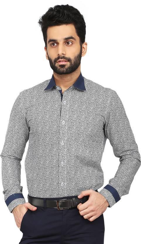 1a62d6e108ee Daagwood Men's Self Design Casual Dark Blue Shirt - Buy Daagwood ...