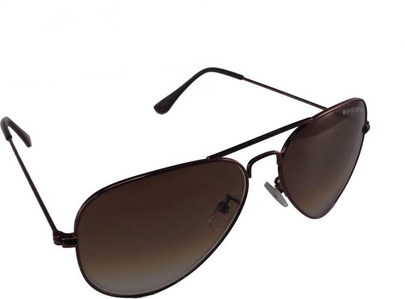 48776e409b0 Buy Swiss Military Aviator Sunglasses Brown For Men   Women Online ...
