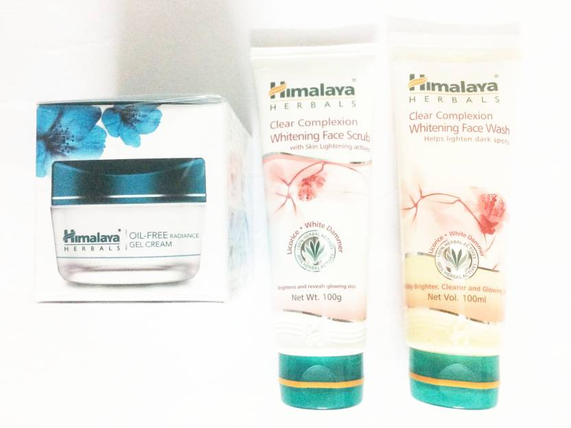 481d02b00cd5 Himalaya oil free radiance gel cream, clear complixion face wash, and scrub  (Set of)