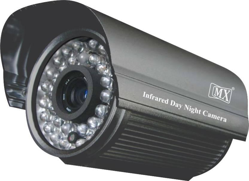 MX Cctv Cameras Analog Bullet Outdoor Camera 1050 Tvl 6mm Lens 24 Ir Led 40  Mtrs -Grey Home Security Camera