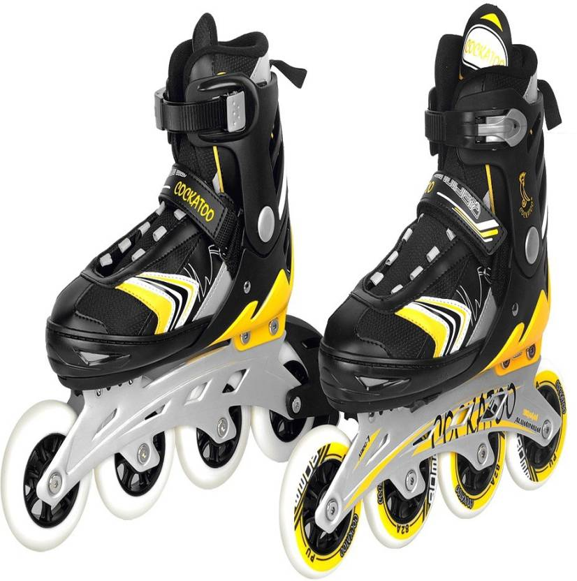 Cockatoo Stylish Big wheels 90mm size large In-line Skates - Size 39-42 Euro