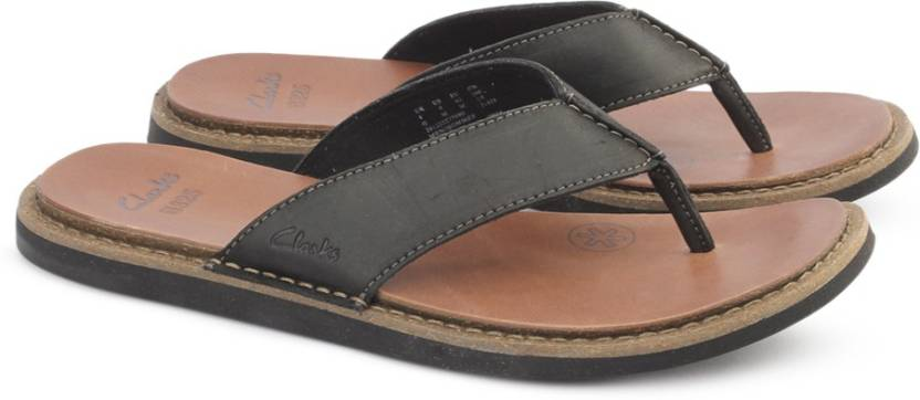 545a6d60401c Clarks LYNTON POST BLACK LEATHER Flip Flops - Buy Black Leather ...