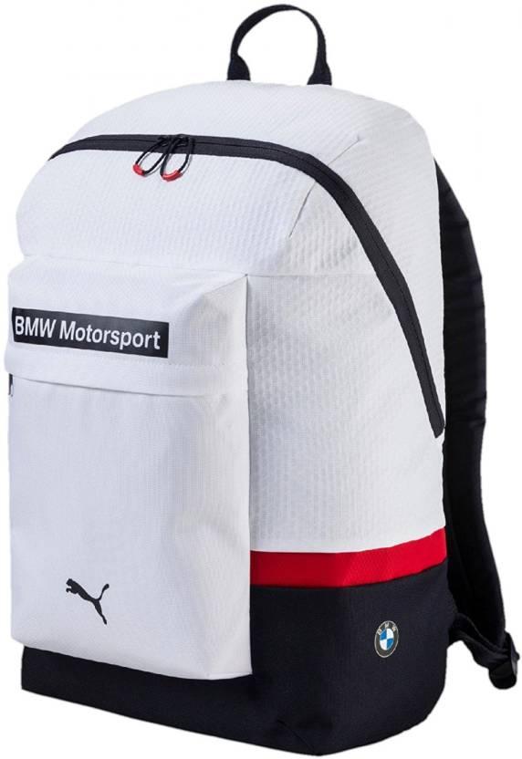 Puma BMW Motorsport Backpack 25 L Laptop Backpack White - Price in ... 8ff8462147