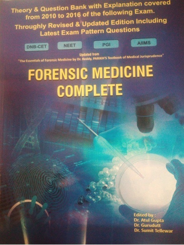 Forensic Medicine Book By Reddy