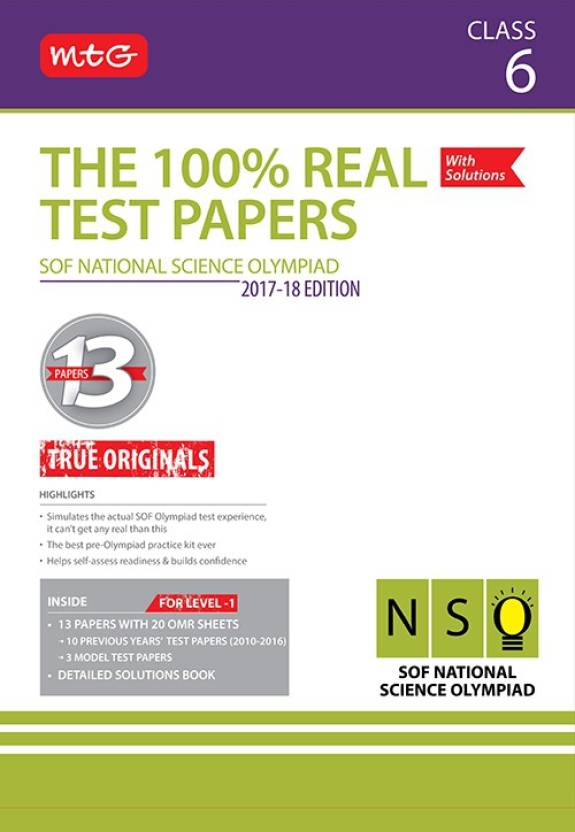 The 100% Real Test Papers (NSO) Class 6: Buy The 100% Real Test