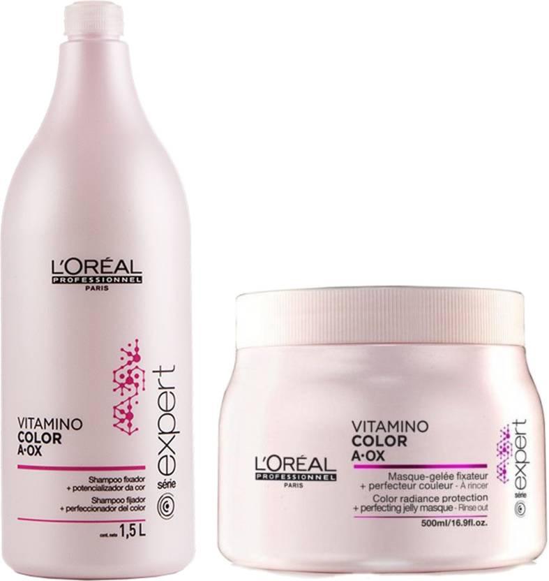 ab3110982 L'Oreal Professionnel Vitamino Color Aox Shampoo 1500 ml + Mask 500 ml (Set  of 2)