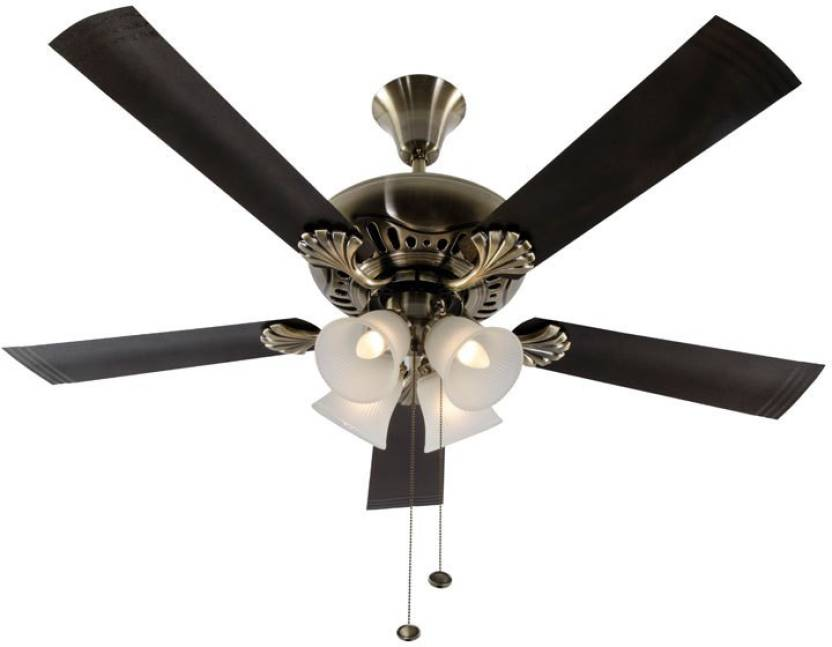 Usha Fontana Maple 5 Blade Ceiling Fan Antique Br