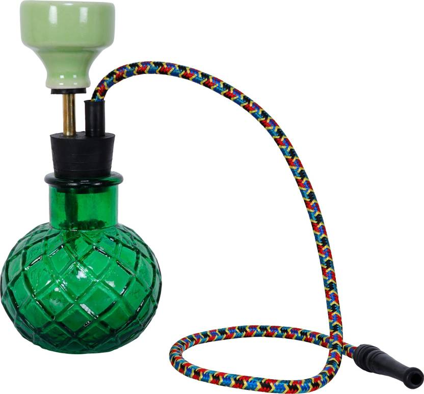 pegs'N'pipes Econo 9 inch Glass, Brass Hookah