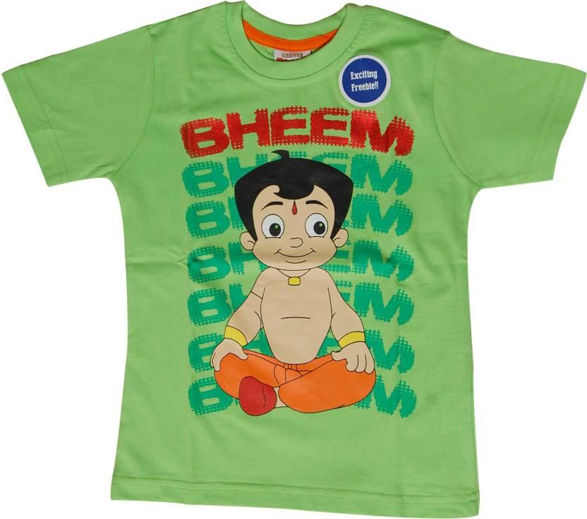 fcc0ee92b Chhota Bheem Boys Printed Cotton T Shirt Price in India - Buy Chhota ...