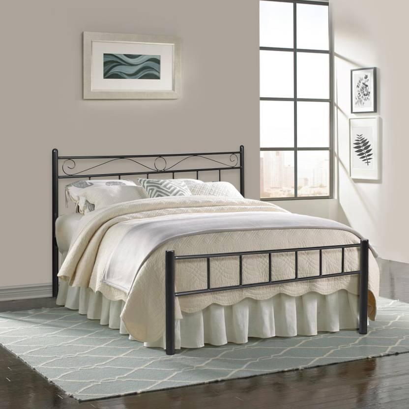 Murphy Bed Price In India: FurnitureKraft Metal Sofa Sets With Brown Mattress Metal 3
