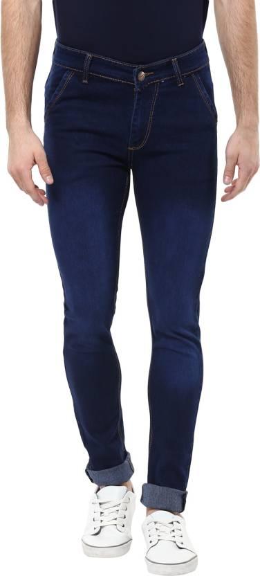 Urbano Fashion Slim Mens Blue Jeans