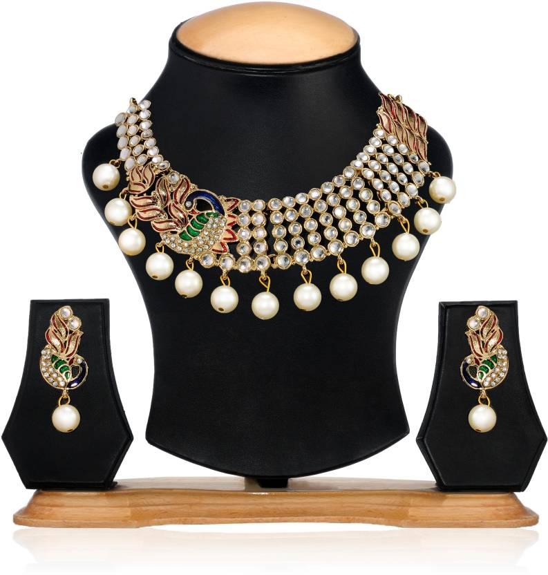 Zaveri Pearls Alloy Jewel Set