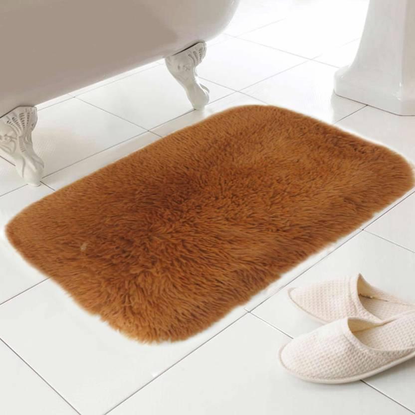 Skipper Polyester Bathroom Mat Beige, Medium